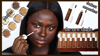 LET'S FIGURE THIS OUT! | *NEW* FENTY BEAUTY FOUNDATION, CONCEALER & POWDER | DARK SKIN MAKEUP