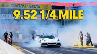 9.52 @ 144 MPH 2019 ZR1 Corvette 1/4 Mile World Record