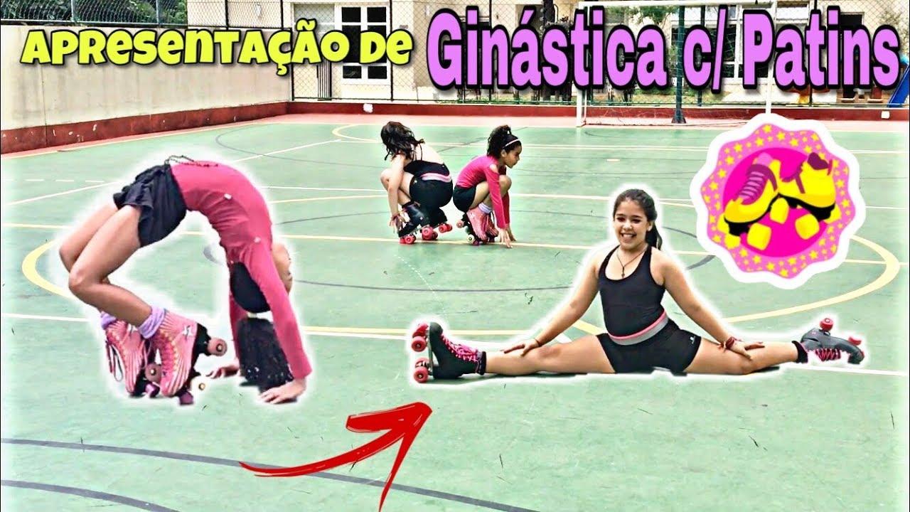 APRESENTAÇÃO Especial de GINÁSTICA com PATINS - Irmãs na ReaL