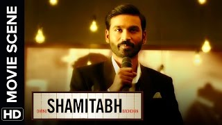 Dhanush introduces the creator of 'Lifebuoy'   Shamitabh   Movie Scene