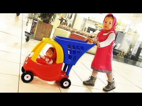 Thumbnail: Masha's Doing Shopping - Supermarket Song - Kids Mini Car, Baby Songs Nursery Rhymes for Kids