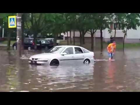 Потоп в Минске: автозаплыв или что такое гидроудар