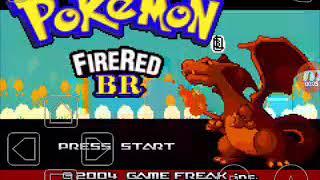Pokemon  fire  red -nova serie derrotando líder de ginásio