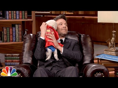 Here's Ben Affleck and Jimmy Fallon Cuddling Puppies Dressed as Superheroes A.K.A. the Best Thing You'll See All Day