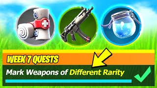 Mark weapons of Different Rarity - Fortnite