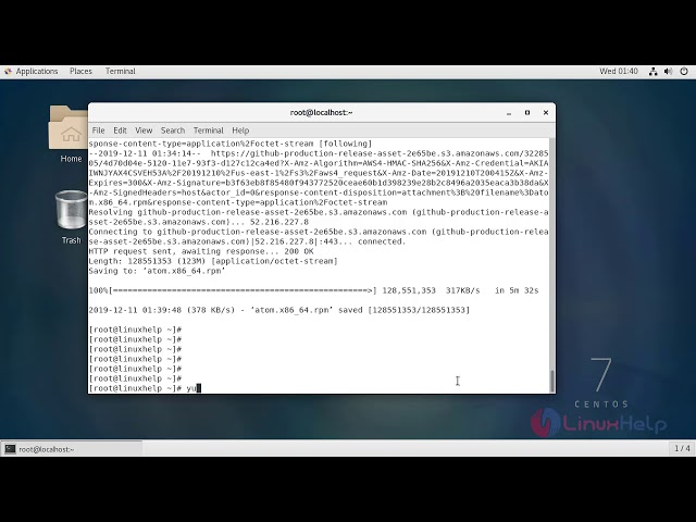 How to Install Atom Text Editor on Centos 7.6