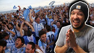 VAMOS ARGENTINA & MESSI!! Ameŗican Reacts to CRAZY ARGENTINIAN FANS IN RUSSIA