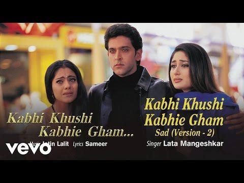Sad Version 2 - Official Audio Song   Lata Mangeshkar   Jatin Lalit   Sameer