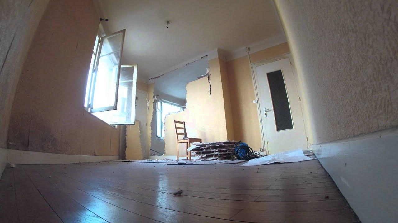 d molition cloison youtube. Black Bedroom Furniture Sets. Home Design Ideas