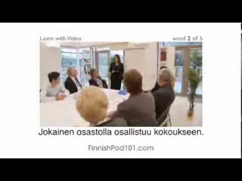 Learning finnish language