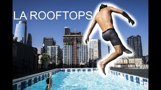 ROOFTOP POOL IN LA!!! (CAUGHT)