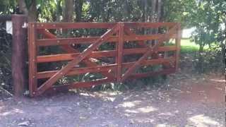 Automatic Wooden Farm Gate