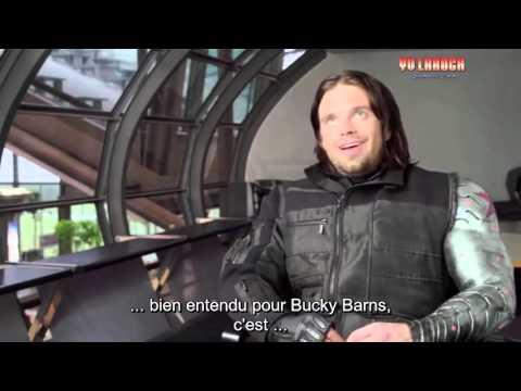 Captain America Civil War Behind The Scenes Bucky Interview  de Sebastian Stan - vost fr