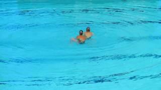 Синхронное плавание - Вероника Калинина и Дарья Кулагина (2016)