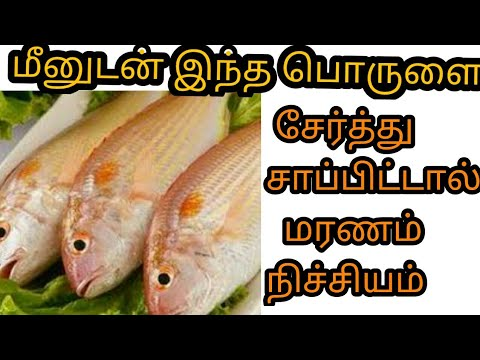 மீனுடன் இந்த பொருட்களை சாப்பிட்டால் மரணம் நிச்சியம் | home remedies in  tamil | pugaz media | latest|