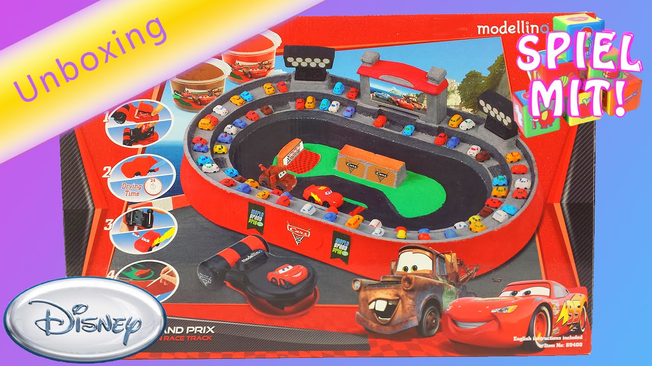 play doh cars 2 deutsch lightning mcqueen modellino. Black Bedroom Furniture Sets. Home Design Ideas