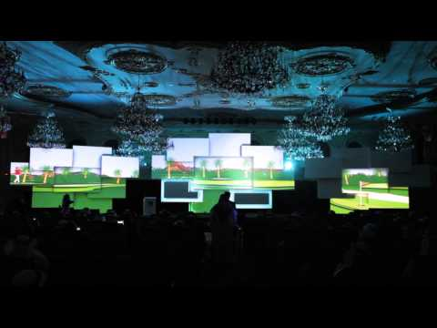 Enormous 3D Projection Mapping Conference Set