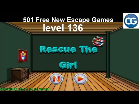 Walkthrough 501 Free New Escape Games Level 136 Rescue The Girl Complete Game Youtube