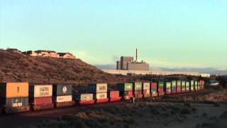 BNSF Stack Train at Frost Flyover Victorville,  CA