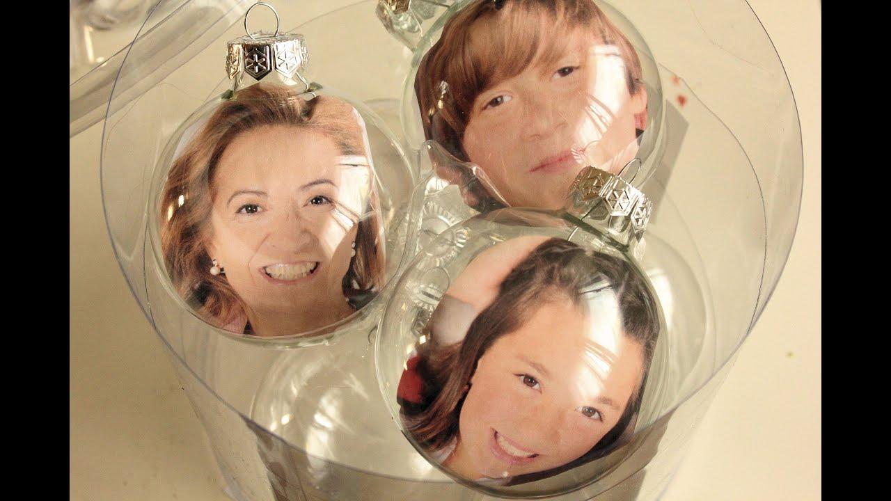 Bolas navide as familiares family christmas ornaments - Bolas de cristal personalizadas ...
