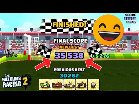 35 538 Points With Low Parts - Hill Climb Racing 2 Two Wheeler