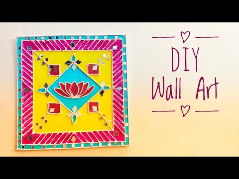 DIY wall art idea # crafts papa # Priya saranam