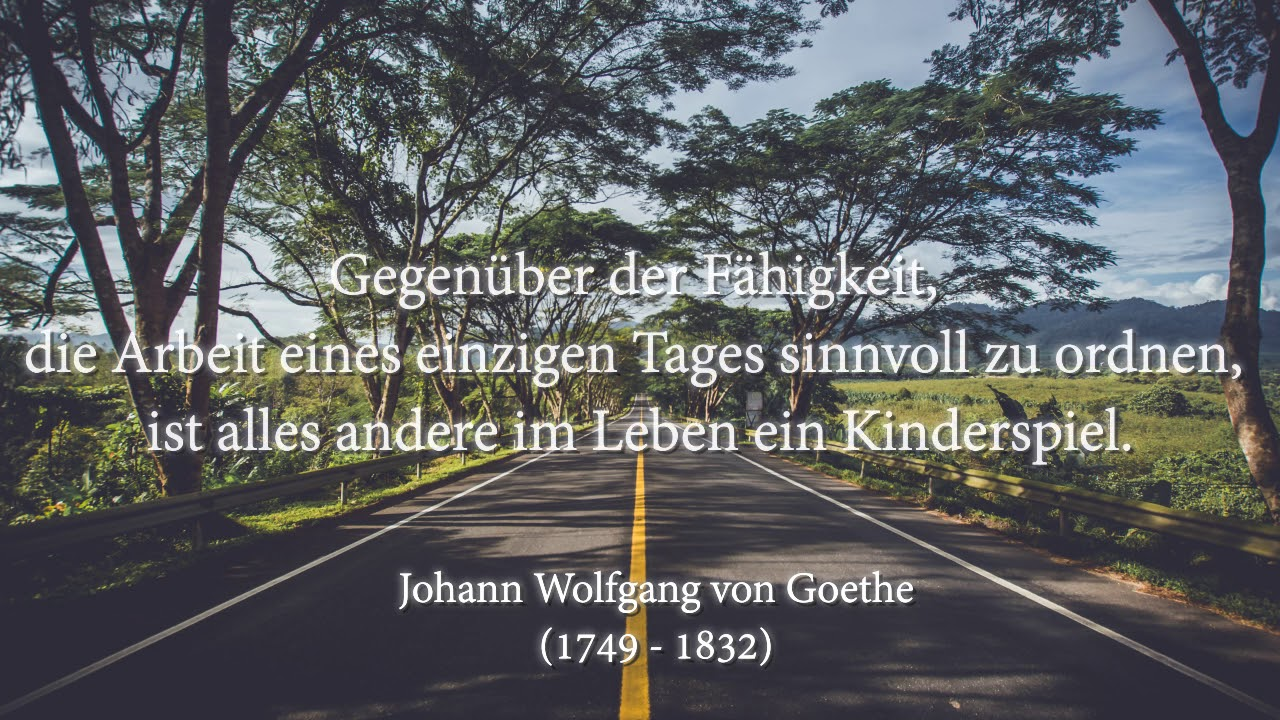 Johann Wolfgang Von Goethe Zitate Part 4 Youtube