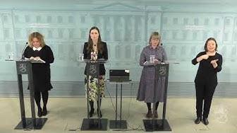 Hallituksen infotilaisuus koronavirustilanteesta 19.3.2020