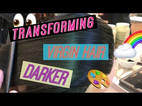 TRANSFORMING VIRGIN HAIR DARKER  AVEDA VLOG | KDiani 2018