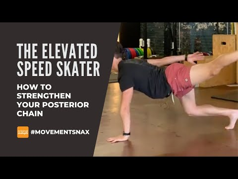 The Elevated Speed Skater - How to strengthen your posterior chain