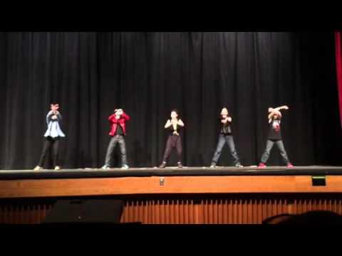 5th grade Boys Talent Show Dance Bruno Mars MC Hammer Greased Lightning Jackson 5 Mash Up Dance