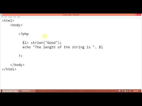 PHP Tutorial : How to find a string length using strlen string function in php