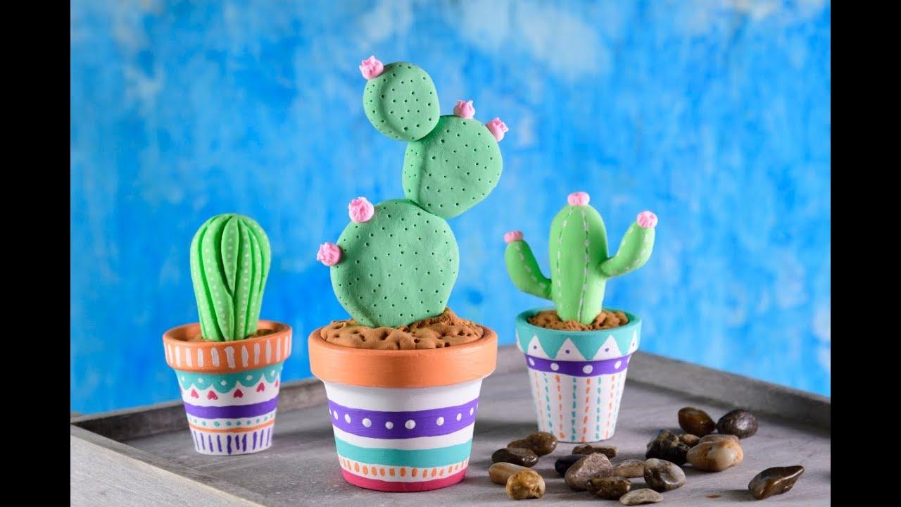 Cmo Hacer Cactus de Foami  Manualidad con 3 Materiales