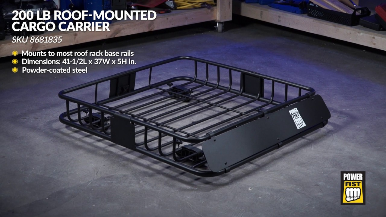 200 lb roof mounted cargo carrier