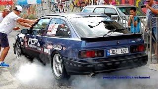 Ford Sierra Turbo vs BMW E36 Turbo drag race