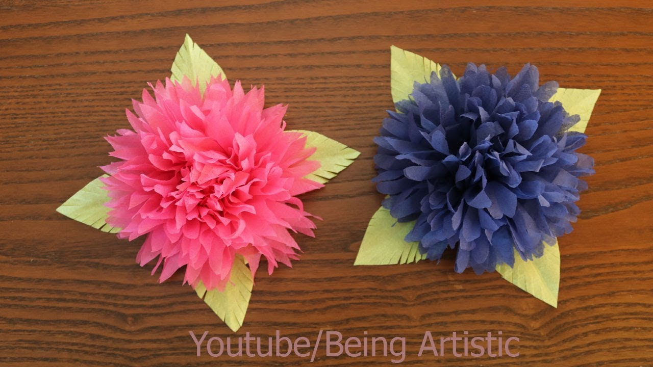 How to make tissue paper flower diy paper craft youtube how to make tissue paper flower diy paper craft mightylinksfo