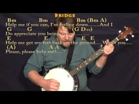 Banjo banjo chords mumford and sons : Help! (The Beatles) Banjo Cover Lesson in Bm with Chords/Lyrics ...