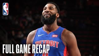 WIZARDS vs PISTONS   Drummond Goes For Season-High 32 Points   February 11, 2019