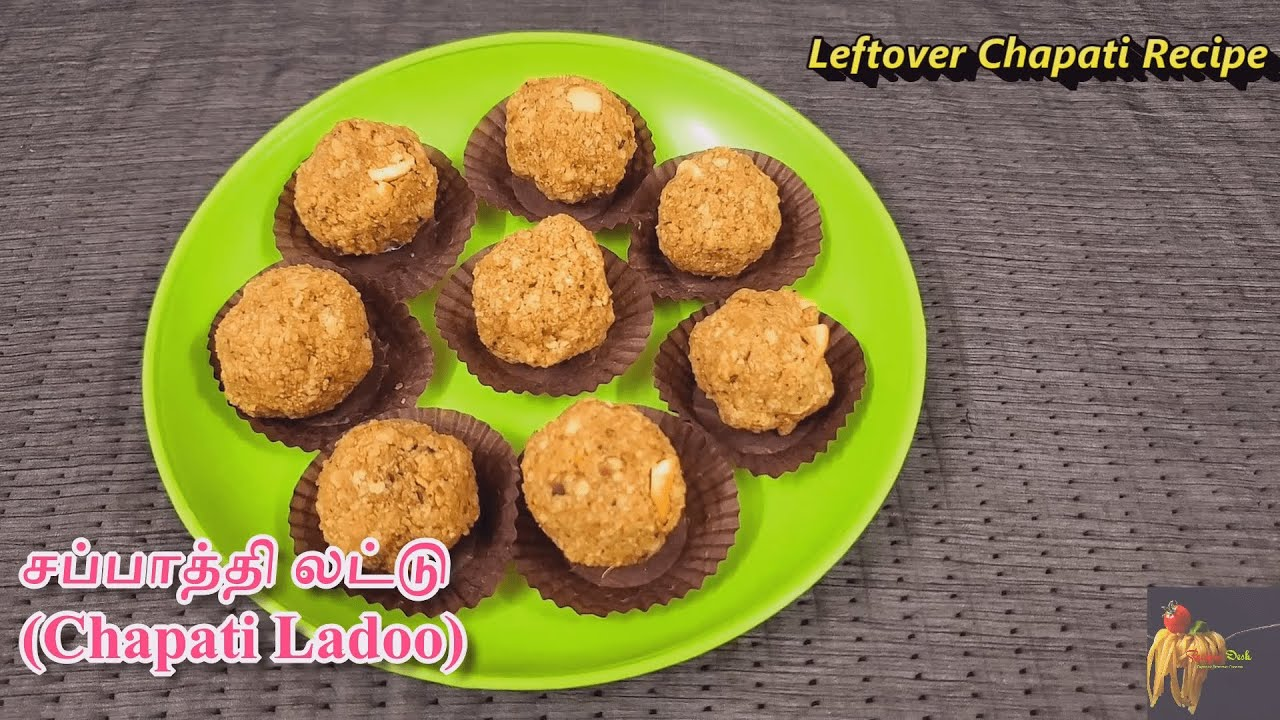 மிச்சமான சப்பாத்தியில் சப்பாத்தி லட்டு|Chapati Ladoo Recipe with English Sub|Leftover Chapati Recipe
