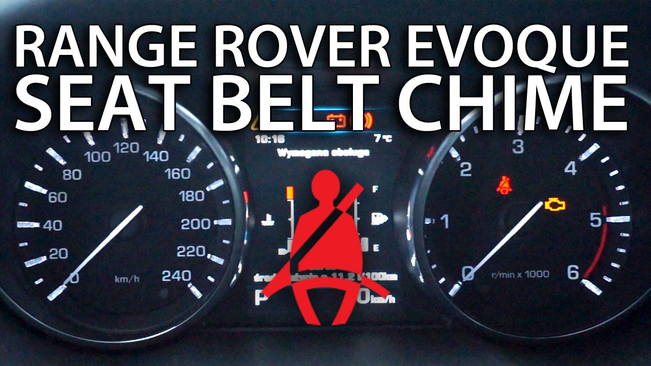 Land Rover Range Rover >> How to disable seat belt warning chime in Range Rover Evoque (Land Rover) - YouTube
