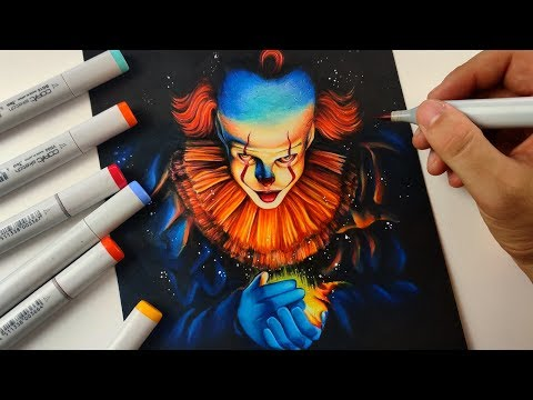Drawing PENNYWISE the Dancing Clown | IT Chapter 2