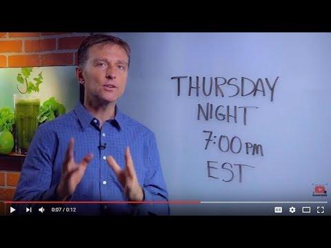 Dr. Berg Live Q&A: Thursday Night at 7:00 pm EST (8-3-2017)
