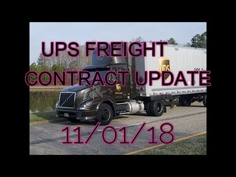 UPS FREIGHT CONTRACT UPDATE 11/01/18