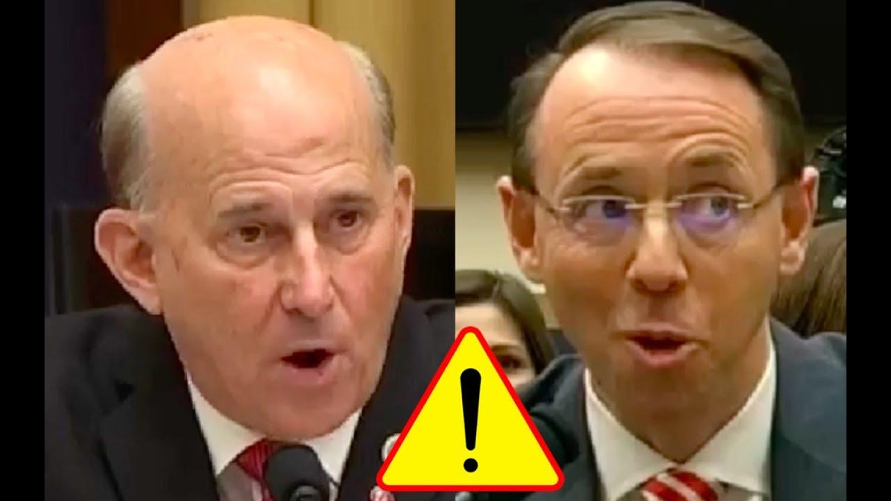Congressman Tells Rod Rosenstein That James Comey BROKE ...