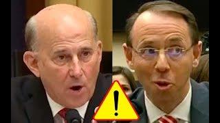 Congressman Tells Rod Rosenstein That James Comey BROKE THE LAW then Rosenstein Agrees!