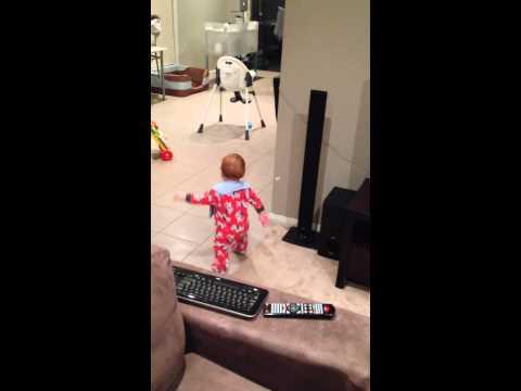 9 month old baby dancing like Peter Garrett