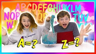 MAKING SLIME IN ALPHABETICAL ORDER! | We Are The Davises