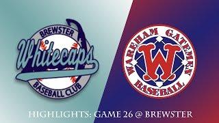 Gatemen Baseball Network Highlights: Wareham Gatemen @ Brewster Whitecaps (7/10/18)