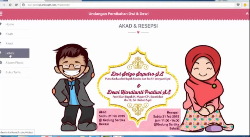 Undangan Pernikahan Website 08989750182  YouTube