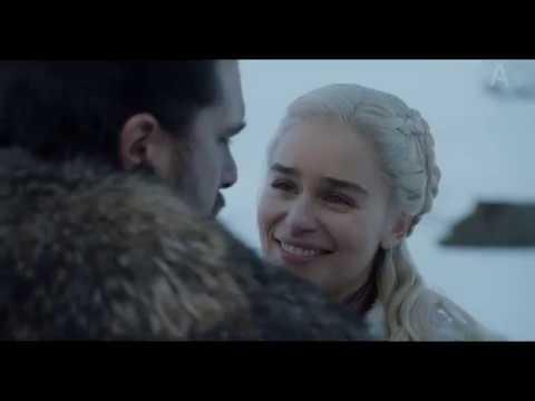 Первое свидание Джона и Дейенерис. Момент из Игры Престолов 8 сезон 1 серия